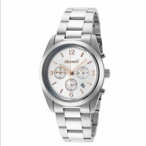 Ingersoll 35mm Silver Stainless Steel Chrono Watch